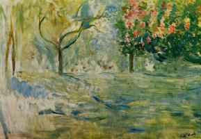 Берта Моризо. Дорога в Булонском лесу весной