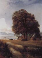 Алексей Кондратьевич Саврасов. Пейзаж с хутором у озера
