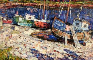 Эдуард Иосифович Базилянский. Лето. Старые лодки.