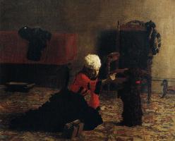 Томас Икинс. Элизабет Кроуэлл с собакой