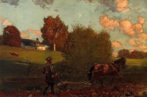 Winslow Homer. The last furrow