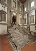 Микеланджело Буонарроти. Вестибюль Библиотеки Лауренциана