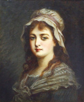Fedor Petrovich Chumakov. Portrait of a girl. Late XIX century.