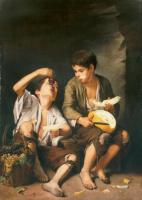 Бартоломе Эстебан Мурильо. Мальчики, которые едят дыню и виноград