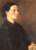 Гюстав Курбе. Профиль женщины в черном