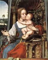 Квентин Массейс. Дева с младенцем