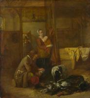 Питер де Хох. Мужчина с дичью и женщина с ребенком
