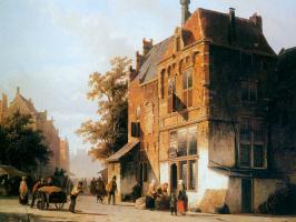 Корнелис Спрингер. Западный рынок в Амстердаме