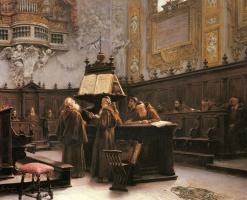 Франческо Бергамини. Читающий примечания хор