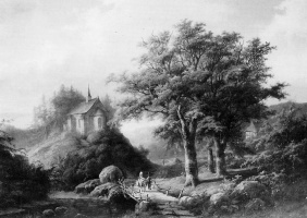 Ван Сандикк. Лесной пейзаж