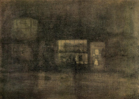 James Abbot McNeill Whistler. Nocturne: Black and gold - the junk shop, Chelsea