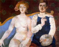 Франко Джентилини. Сидящие мужчина и женщина