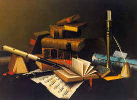 William Michael Harnett. Books and notes