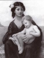 Элизабет Гарднер Бугро. Женщина с ребенком на руках