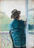 Николай Александрович Ярошенко. На балконе.