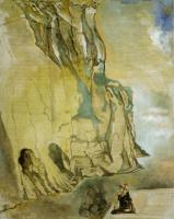 Сальвадор Дали. Пейзаж со скрытым изображением Давида Микеланджело