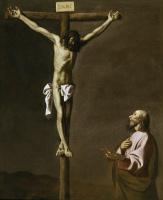 Francisco de Zurbaran. The Apostle Luke the painter before the Crucifixion