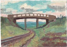 Аркадий Павлович Лаптев. Мост через железную дорогу