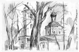 Борис Анатольевич Студенцов. Церковь Иоанна Предтечи в Рощенье