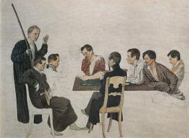 Павел Андреевич Федотов. П. А. Федотов и его товарищи по лейб-гвардии Финляндскому полку