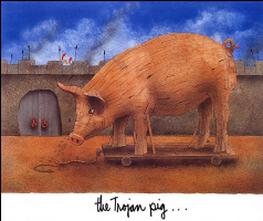 Will Bullas. The Trojan pig