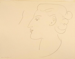 Henri Matisse. Profile of a woman