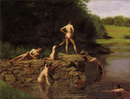 Thomas Eakins. A place to swim (Swimmers)