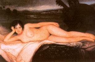 Хулио Ромеро де Торрес. Обнаженная женщина