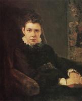Василий Дмитриевич Поленов. Портрет Веры Дмитриевны Хрущевой, сестры художника