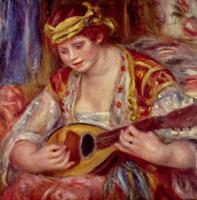 Pierre Auguste Renoir. Woman with a mandolin