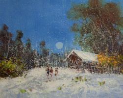 Andrew Shararin. A snowy day at the beginning of winter. N1
