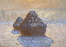 Claude Monet. Haystacks. The effect of frost