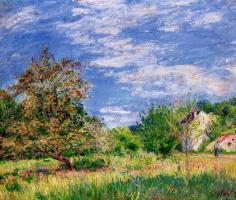 Альфред Сислей. Фруктовый сад весной