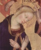 Джентиле да Фабриано. Коронование Марии, центральная часть, сцена: Коронование Марии, деталь: Мария