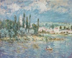 Клод Моне. Пейзаж с грозой