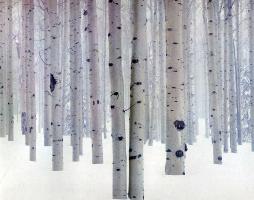 Дэвид Мюнх. Березы в снегу