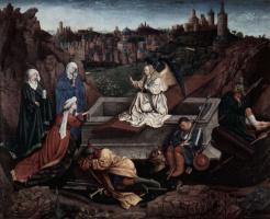 Губерт ван Эйк. Три Марии у гроба Христа
