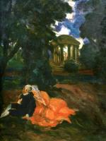 Николай Николаевич Сапунов. В парке. Влюбленные