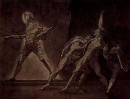 Иоганн Генрих Фюссли. Гамлет, Горацио, Марцелл и призрак отца Гамлета