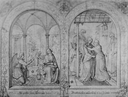 Иоганн Фридрих Овербек. Благовещение Марии и Встреча Марии и Елизаветы