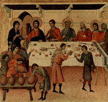 Дуччо ди Буонинсенья. Маэста, алтарь сиенского кафедрального собора. Брак в Кане