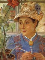 Ernst Josephson. Portrait Of Jeanette Rubenson