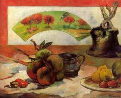 Paul Gauguin. Still life with a fan