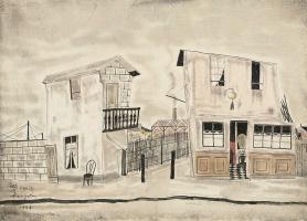 Цугухару Фудзита (Леонар Фужита). Уличная сцена в Париже