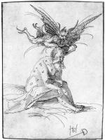 Hans Scheufelain. Job, tempted by Satan