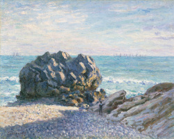 Alfred Sisley. Storrs-rock, Lady's Cove, evening