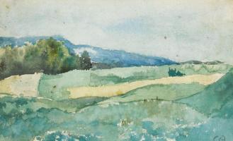 Cuno Amiè. Landscape, Solothurn