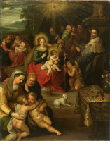 Frans Franken the Younger. Allegory of the infant of Christ as the Lamb of God. 1616