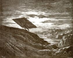 Поль Гюстав Доре. Иллюстрация к Библии: Самсон уносит ворота Газы