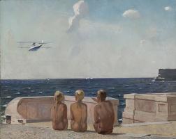 Александр Александрович Дейнека. Будущие летчики
